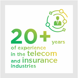 20+ years of experience in the telecom and insurance industries