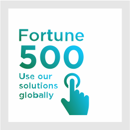 Fortune 500 use our solutions globally