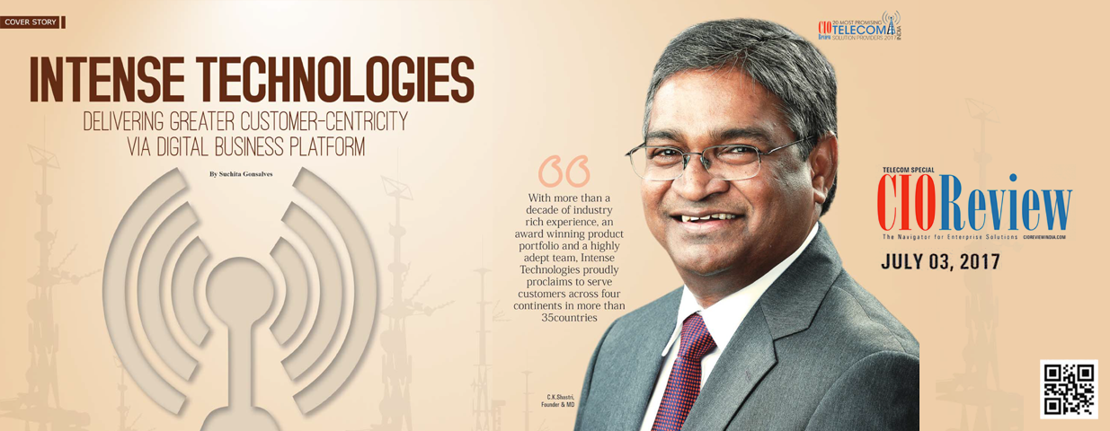 Intense Technologies featured in CIO Review cover story
