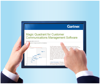 Intense Technologies mentioned in Gartner Magic Quadrant for Customer Communications Management report