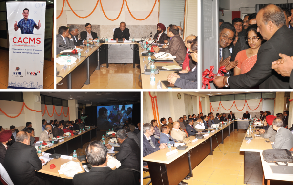 N.K.Gupta, Director CFA, BSNL Board launching the phase 1 of CACMS project at BSNL